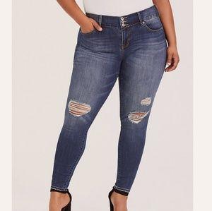 Torrid Distressed Jegging Skinny Jeans SZ 20R